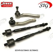 Front Left And Right, Inner And Outer Tie Rod Ends For Toyota Corolla 2003-2008 4pc