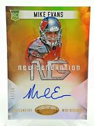 Mike Evans 2014 Certified New Generations 1/10 Gold Autograph Rc Rookie Ng-me