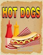 Hot Dogs Decal Choose Your Size Dog V Food Truck Concession Sticker