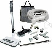 30' Or 35' Central Vacuum Kit With Hose, Power Head And Tools Nutone Eureka Beam