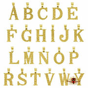 Men's Women's 10k Yellow Gold Nugget Initial Charms Small Letter A To Z Pendants