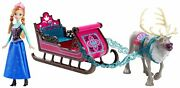 Disney Frozen Anna Doll With Sleigh And Sven Gift Set, New In The Box