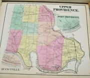 Hopkins 1871 Upper Providence Map Montgomery County Pa Trappe Collegeville