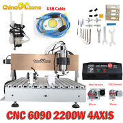 2.2kw Cnc 6090 4axis Usb Port Router Milling Engraving Diy Cnc Cutting Machine