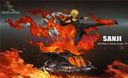 Gecko Studio One Piece Fire Sanji Gk Collector Resin Led Painted Limited Statue