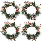Chezmax Candle Rings Berry Tea Light Ring Small Candle Wreaths Berry Candle H...