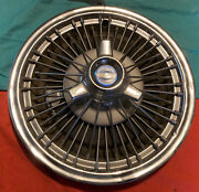"""Ford Mustang Fairlane Galaxie Wire Hubcap 1965 1966 1967 15"""" Tri Bar Spinner Oem"""