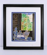 Look Matisse 1948 Antique Print Silence That Lives In Houses Framed Signed Coa