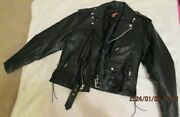 Grubby's Moto Leather Lined Zip Jacket Size 48