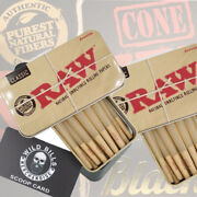 New Raw Black 1 / 1 4 Size Pre-rolled Cones 50 Count Plus 2 Raw Black Tin
