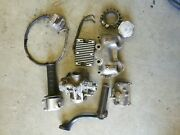 Lot Of Motorcycle Parts 1970 Triumph 650cc And Others