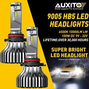 Auxito Cree Led Headlight Bulb Kit Low Beam 9005 Hb3 6000k 40w 9000lm One Pair