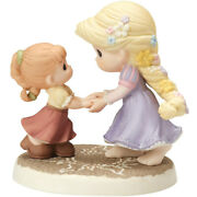Precious Moments Disney Rapunzel We Go Hand-in-hand Bisque Porcelain 154012