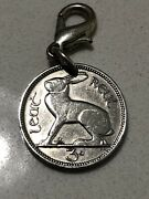 1928 Eire, Ireland 3 Pence Coin, 3d Leat Reul, Hare/rabbit, Charm