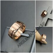 925 Sterling Silver, Please Return To Ring, T Square Ring, T Wide Ring Rose Gold