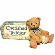 Cherished Teddies By Enesco 951005 Store Sign Village Display Plaque Bear