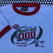 Vintage Mount And Doo Cola Ringer T-shirt L Large 90s 2000s Mountain Dew Parody