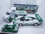 In Box Hess 2009 Toy Truck Race Car And Racer Lights And Sound Used W/2013 Truck