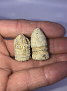 Set Of 2 Nice Dug Civil War Extracted 2 And 3 Ring Bullet Mini Ball Musket