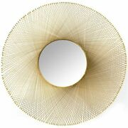 Uptown Club Cascade Contemporary Mesh Frame Decorative Wall Mirror In Gold