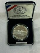 1992 Proof - The White House 200th Anniversary Coin Silver Dollar And Box Nice