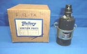 Vintage 1960and039s Nos Mallory 12v Ignition Coil Ct31