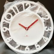 Michael Graves Design White Punch Wall Clock Discontinued