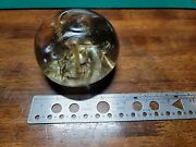 Rare Antique 1850's Large Hand Blown Glass Paperweight
