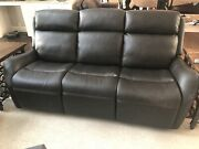 Hooker Furniture Leather Sofa Couch