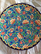 3 Longwy Pottery Pieces- Large Plate, Squared Dish, Smaller Plate