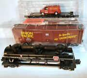 Menards O Scale Chicago And North Western Flat Union Pacific Box Pennsylvania Tank