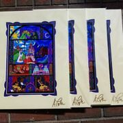 Disney Limited Edition Print Beauty And The Beast Belle Signed By Ashley Taylor