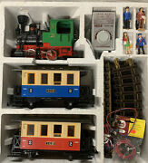 Lgb 20301 Blue And Red Passenger Train Set Vg Condition With Transformer
