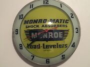 """Vintage Monroe Monro-matic Double Bubble Wall Clock Lighted Works 15"""""""