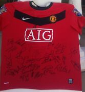 Manchester United Signed Autograph Shirt Nike Jersey Rooney+giggs+scholes+fergie