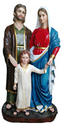 Holy Family Mary Joseph And Jesus 50 Inch Large Colored Resin Statue