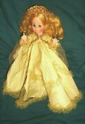 Madame Alexander Sleeping Beauty In Gold Dress Crown Vinyl 14 Made In Usa
