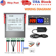 Stc-3028 110v Dual Led Digital Thermostat Temperature Controller + 2 Ntc Probes