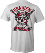 Brand New Heathen Fueled By Hate White Tee Shirt Small-6xlarge Limited Edition