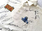England Test Team 94/5 - One Only - Rare Signed Game Worn Jersey And Trading Cards