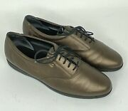 Easy Spirit Anti Gravity Bronze/brown Leather Lace Up Comfort Oxford 10m