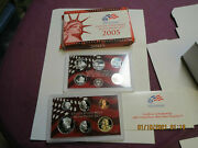2005 Us Mint Silver Proof Set In Red Box With Coa 11 Coins