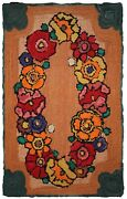 Handmade Vintage American Hooked Rug 2and039 X 3and039 61cm X 91cm 1940 - 1c21