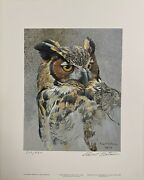 Great Horned Owl Study By Robert Bateman - Limited Edition
