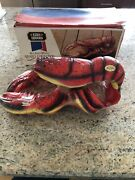 Rare 1970 Ezra Brooks Red Lobster Maine Sesquicentennial Whiskey Decanter W/box