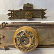 Antique Russell And Erwin Toulon Gothic Entry Door Lock Set Brass Or Bronze Keys