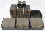 Keystone Stereoview Tour Of The World 599/600 Set And Viewer Stereographic Library