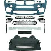 Designstoandszligstange Bumper Front For Bmw X6 F16 F86 Year 14- With Sra Pdc