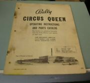 Vintage 1960's Bally Circus Queen Pinball Machine Instructions And Parts Catalog