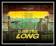 The Longest Day 5x8 Ft Double French Grande Original Movie Poster 1962
